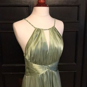 BCBG Max Azria silk dress floor length gown size 4